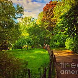 Serene Path - Central Park New York by Miriam Danar