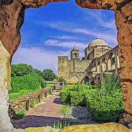 Set In Stone - Mission San Jose - San Antonio Texas USA by Tony Crehan