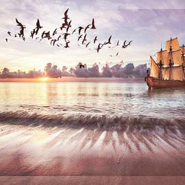 Setting Sail at Dawn with Soft Border by Debra and Dave Vanderlaan