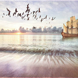 Setting Sail in Dawn's Soft Light by Debra and Dave Vanderlaan