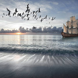 Setting Sail  into a Blue Dawn  by Debra and Dave Vanderlaan