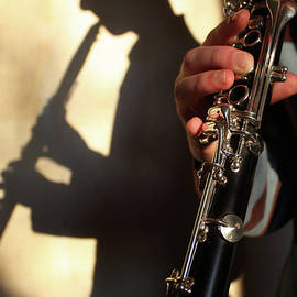 Shadow of a clarinetist by Gregory DUBUS