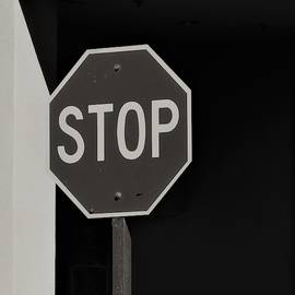 Shadows and Stop Sign by Bill Tomsa
