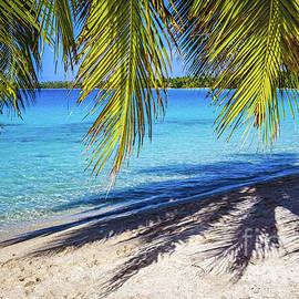 Shadows On The Beach, Takapoto, Tuamotu, French Polynesia by Lyl Dil Creations