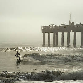 She Is Surfing In The Fog by Janal Koenig