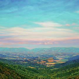 Shenandoah Sky - Shenandoah Valley from Skyline Drive Overlook by Bonnie Mason