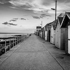 Sheringham Beach Huts Black And White by Scott Lyons
