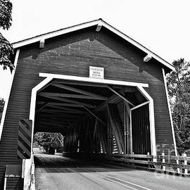 Scott Pellegrin - Shimanek Covered Bridge Over Thomas Creek - BW