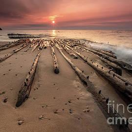 Shipwreck on Lake Superiors Graveyard Coast by Craig Sterken