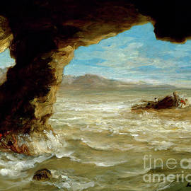 Shipwreck On The Coast, 1862 by Ferdinand Victor Eugene Delacroix