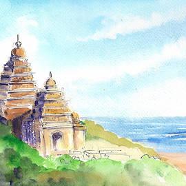 Shore Temple by Asha Sudhaker Shenoy