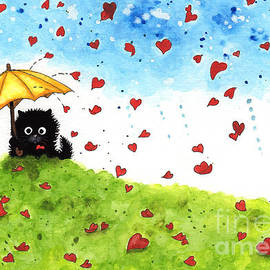 AmyLyn Bihrle - Showered with Love Black Cat