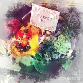 Sidewalk Bouquet - Flowers on a Sunny Day by Miriam Danar