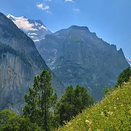 Silberhorn mountains and glacier. 3.695meters. .Lauterbrunnen Valley. Alps. Switzerland by Guido Montanes Castillo
