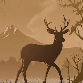 Silhouette Deer by Anthony Mwangi
