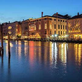 Silky Evening in Venice Italy - Canalazzo Palazzi - Palaces on the Grand Canal