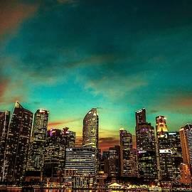 Singapore Skyline  by Aarti Bartake