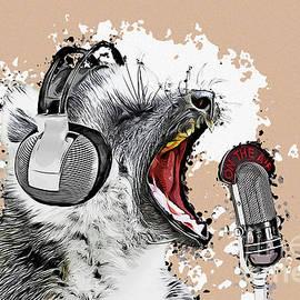 Singing Lemur Comic Art by Angela Doelling AD DESIGN Photo and PhotoArt