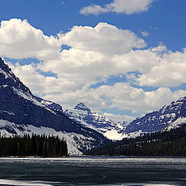 Sinopah, Two Medicine Lake Early Spring by Tracey Vivar