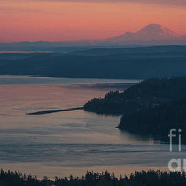 Mike Reid - Skagit Bay and Mount Rainier Sunset