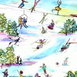 Ski Slopes 1 by Patty Donoghue