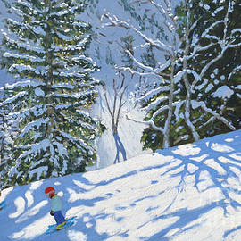 Skiing Courchevel To La Tania by Andrew Macara