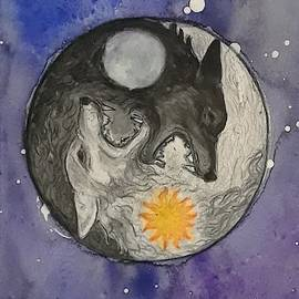 Skoll and Hati by Jennie Hallbrown