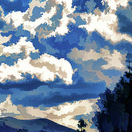 Sky Full of Clouds 1 Abstract 2  by Linda Brody