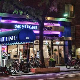 Skylight Diner After Dark 2 by Sharon Popek