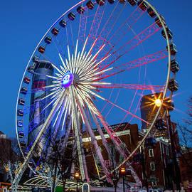 Atlanta GA SkyView Atlanta Ferris Wheel Westin Peachtree Plaza Super Bowl L111 Architectural Art by Reid Callaway