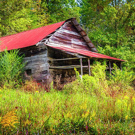 Smoky Mountain Barn on an Autumn Afternoon by Debra and Dave Vanderlaan