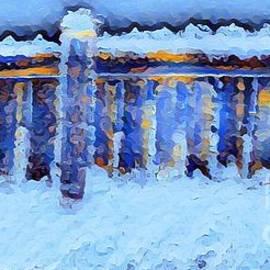 Lavender Liu - Snow-capped Fence