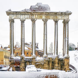 Snow over Roman Forum and Palatine Hill by Stefano Senise