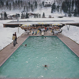 Snow Round The Pool by Slim Aarons
