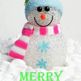 Snowman - Merry Christmas by Helen Northcott