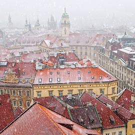 Snowy Christmas Prague. Stare Mesto by Jenny Rainbow
