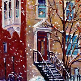 Grace Venditti - Snowy Milton Park House Montreal Winter Scenes Downtown Vintage Architecture Painting Grace Venditti