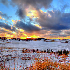 Snowy Sunset by David Patterson