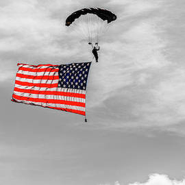 Socom Flag Jump In Selective Color by Doug Camara