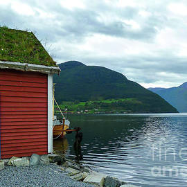 Sognefjord Boat House by Norma Brandsberg