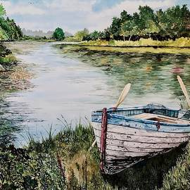 Solitary Skiff by Lance Wurst