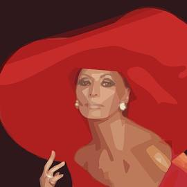 Lady In A Red Hat by Isabella Zietsman