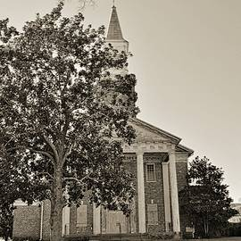 South Carolina State Hospital Chapel Of Hope Black And White 2 by Lisa Wooten