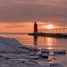 South Haven Sunset by Mike Griffiths