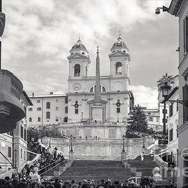 Spanish Steps Rome - At the bottom of Trinity Church by Stefano Senise