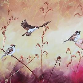 Sparrows by Marilyn Hilliard
