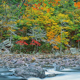 Splendorous Autumn Along Goshen Pass And Maury River, Thomas Jefferson National Forest, Virginia by Bijan Pirnia