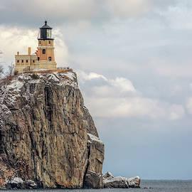 Split Rock Lighthouse Lightly Flocked by Susan Rissi Tregoning