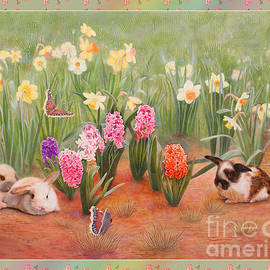 Spring Awakens with Dogwood Blossoms Border by Nancy Lee Moran