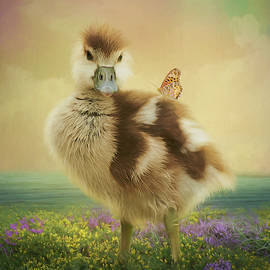Dawn Gemme - Spring Gosling and Butterfly